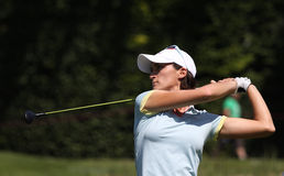 Annelise Caudal at golf Evian Masters 2012. EVIAN MASTERS, EVIAN, FRANCE, JULY 27 , 2012 Anne Lise Caudal (FRA) at The Evian masters golf tournament, LPGA tour stock photo