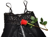 Annerisca il corsetto del merletto ed il colore rosso è aumentato Immagini Stock Libere da Diritti