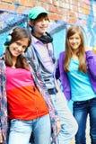 Années de l'adolescence amicales Photo libre de droits