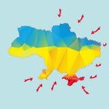 Annessione Crimea dall'Ucraina Fotografie Stock