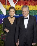Annette Bening and Warren Beatty at 2019 Tony Awards royalty free stock images