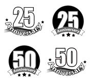 Anneversary logo. Vector logo of anniversary on white background Royalty Free Stock Photo