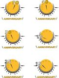 Anneversary logo. Vector logo of anniversary on white background Royalty Free Stock Image