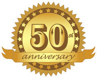 Anniversary. Vector logo of anniversary on white background Royalty Free Stock Photo