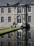 Annevoi Castle, Belgium. Seldom does the sun shine so brightly in Belgium as it did on this day Stock Photo