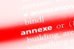 Annexe. Word in a dictionary.  concept Stock Photos