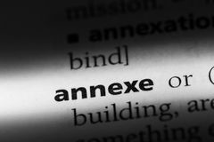 Annexe. Word in a dictionary.  concept Royalty Free Stock Photography