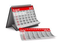 2019 anni Calendario per l'illustrazione di August Isolated 3D royalty illustrazione gratis
