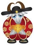 2015 anni dei soldi Dio della capra con oro Antivari royalty illustrazione gratis