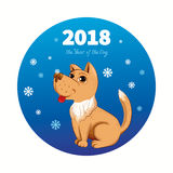 2018 anni del cane Immagine Stock Libera da Diritti