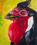 2017 anni del gallo Immagine, pittura ad olio immagini stock