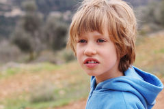 6 anni del ragazzo Fotografia Stock Libera da Diritti