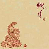 2013 anni del serpente Immagini Stock Libere da Diritti