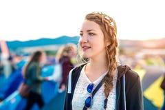 Anni dell'adolescenza al festival di estate Immagine Stock Libera da Diritti
