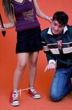 Anni dell'adolescenza che hanno divertimento Fotografia Stock Libera da Diritti