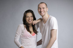 Anni dell'adolescenza che ridono insieme Fotografia Stock Libera da Diritti