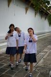 Anni dell'adolescenza della Tailandia Immagine Stock