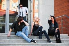 Anni dell'adolescenza sui punti Immagine Stock Libera da Diritti