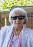 83 anni della donna Immagini Stock