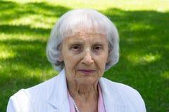 83 anni della donna degli anziani Fotografia Stock Libera da Diritti