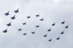 100 anni di aeronautica della Russia Fotografia Stock Libera da Diritti