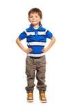 3 anni di altezza completa del ragazzo Fotografia Stock Libera da Diritti