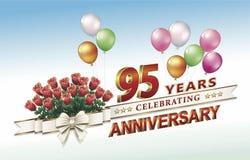 95 anni di anniversario illustrazione vettoriale