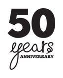 50 anni di anniversario royalty illustrazione gratis