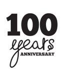 100 anni di anniversario Fotografie Stock