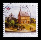 1250 anni di anniversario del monastero di Lorsch, patrimonio mondiale dell'Unesco colloca il serie, circa 2014 Fotografia Stock Libera da Diritti