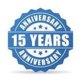 15 anni di anniversario di celebrazione di icona di vettore illustrazione di stock