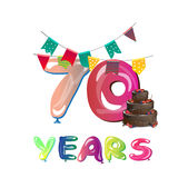 70 anni di anniversario di progettazione di celebrazione illustrazione di stock