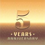 5 anni di anniversario di icona di vettore, simbolo Fotografie Stock Libere da Diritti