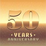50 anni di anniversario di icona di vettore, simbolo Fotografie Stock Libere da Diritti