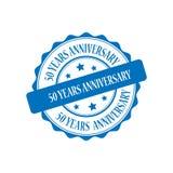 50 anni di anniversario di illustrazione del bollo Fotografia Stock