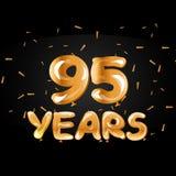 95 anni di anniversario di logotype di celebrazione Immagine Stock