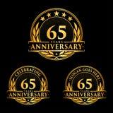 65 anni di anniversario di modello di progettazione Vettore ed illustrazione di anniversario sessantacinquesimo logo illustrazione vettoriale