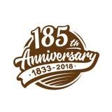 185 anni di anniversario di modello di progettazione Vettore ed illustrazione 185th logo royalty illustrazione gratis