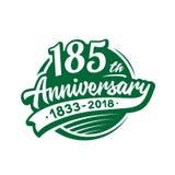 185 anni di anniversario di modello di progettazione Vettore ed illustrazione 185th logo illustrazione di stock