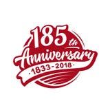 185 anni di anniversario di modello di progettazione Vettore ed illustrazione 185th logo illustrazione vettoriale