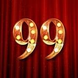 99 anni di anniversario di progettazione di celebrazione Fotografia Stock