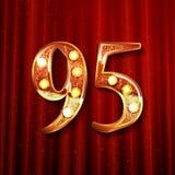 95 anni di anniversario di progettazione di celebrazione Immagine Stock
