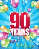 90 anni di biglietto di auguri per il compleanno royalty illustrazione gratis