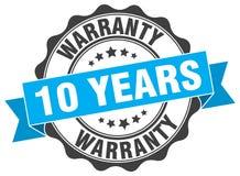 10 anni di bollo della garanzia Immagine Stock Libera da Diritti