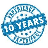 10 anni di bollo di esperienza illustrazione vettoriale