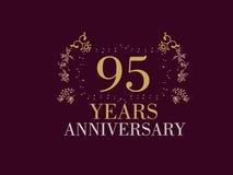 95 anni di carta di anniversario Immagine Stock Libera da Diritti