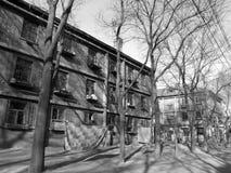 50 anni di edifici residenziali Immagine Stock Libera da Diritti