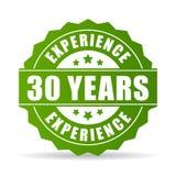 30 anni di esperienza di icona di vettore illustrazione di stock