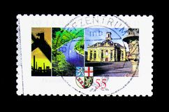 50 anni di federazione di Saarland, serie, circa 2007 Immagini Stock Libere da Diritti
