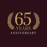 65 anni di logo lussuoso Immagine Stock